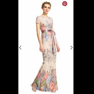 NWT Adrianna Papell Floral Matelasse Gown size 2